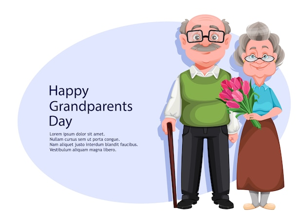 Carte de voeux bonne fête des grands-parents