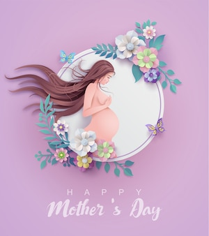 Carte de voeux bonne fête des mères.