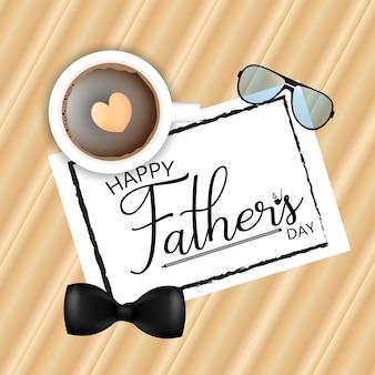 Carte de voeux bonne fête des pères calligraphie. illustration vectorielle