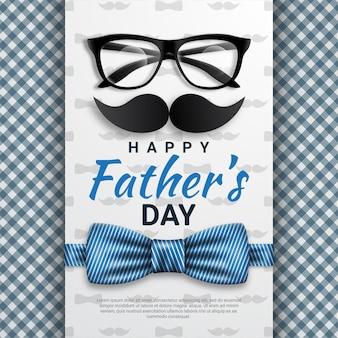 Carte de voeux bonne fête des pères