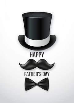 Carte de voeux de bonne fête des pères.