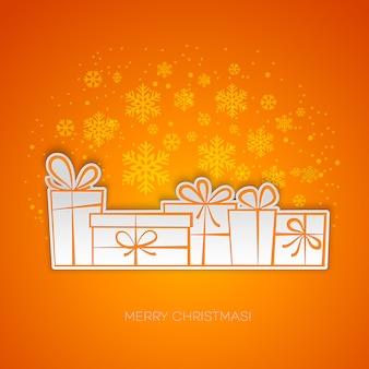 Carte de voeux cadeau joyeux noël.