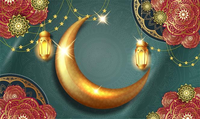Carte de voeux de calligraphie arabe ramadan kareem.