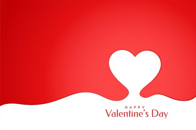 Carte de voeux coeur créatif joyeux saint valentin