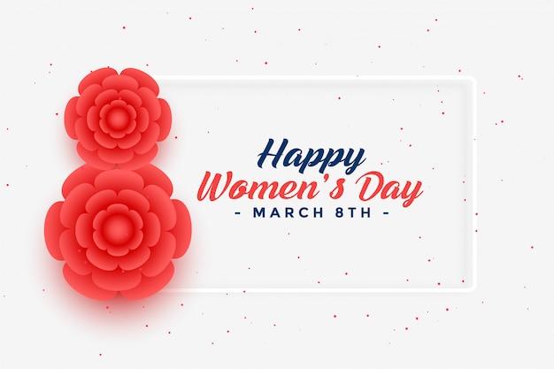 Carte de voeux créative de la journée du 8 mars de la femme heureuse