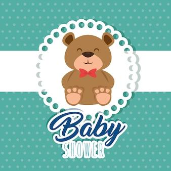 Carte de voeux de douche de bébé