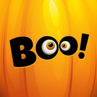 Carte de voeux drôle d'halloween. illustration vectorielle eps 10