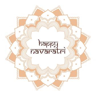 Carte de voeux du festival diwali avec mandala