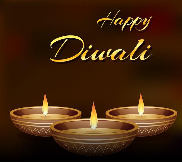 Carte de voeux du festival de diwali