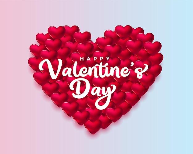 Carte de voeux élégante 3d saint valentin