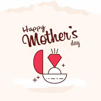 Carte de voeux fête des mères fond de bannière