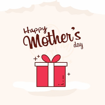 Carte de voeux fête des mères fond bannière