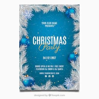 Carte de voeux de fête de noël
