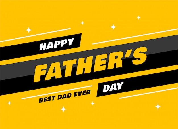 Carte de voeux fête des pères moderne
