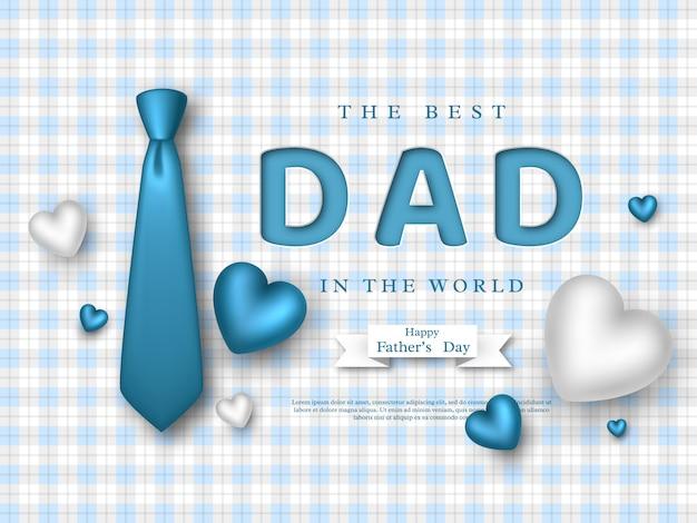 Carte de voeux de fête des pères.