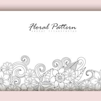 Carte de voeux avec des fleurs, aquarelle. image de vecteur