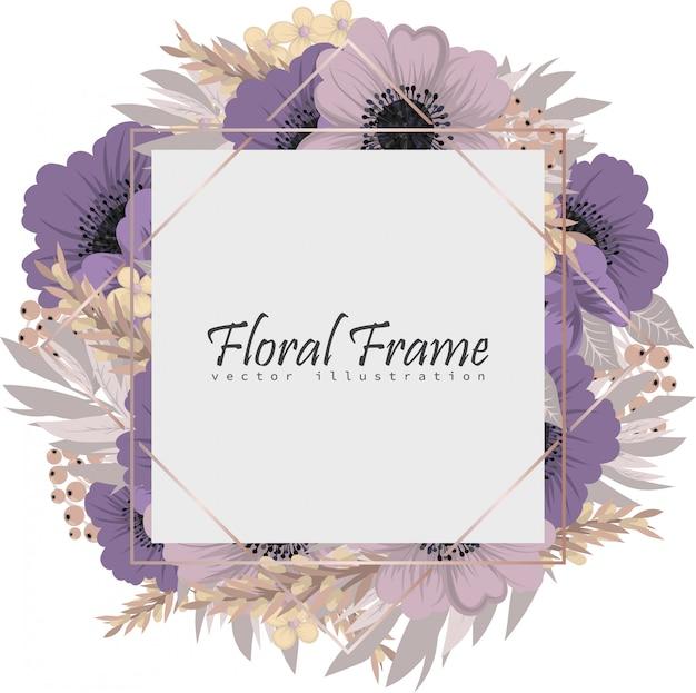 Carte de voeux avec des fleurs, aquarelle.