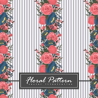 Carte de voeux avec des fleurs