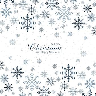 Carte de voeux de flocons de neige décoratifs abstraits