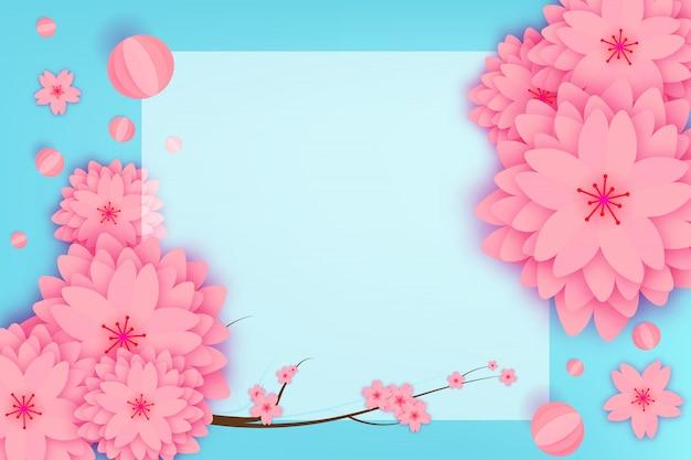 Carte de voeux florale découpée