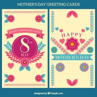 Carte de voeux florale pour la fête des mères