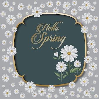 Carte de voeux florale de saisons
