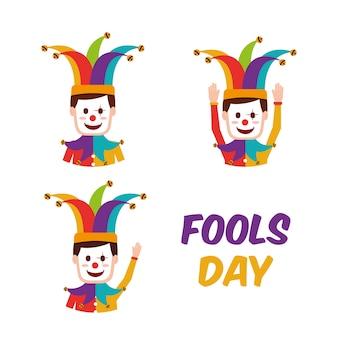 Carte de voeux fools day