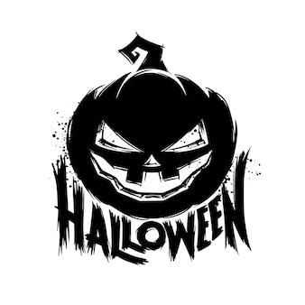 Carte de voeux halloween grunge