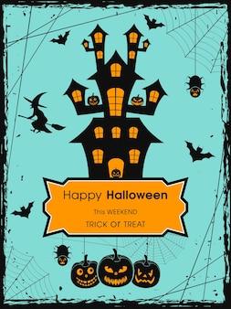 Carte de voeux halloween pour la célébration du festival