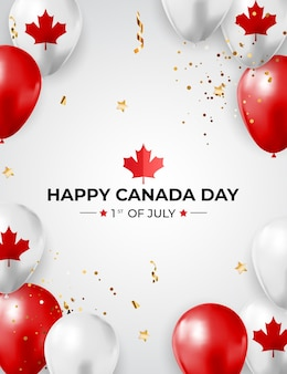 Carte de voeux happy canada day background