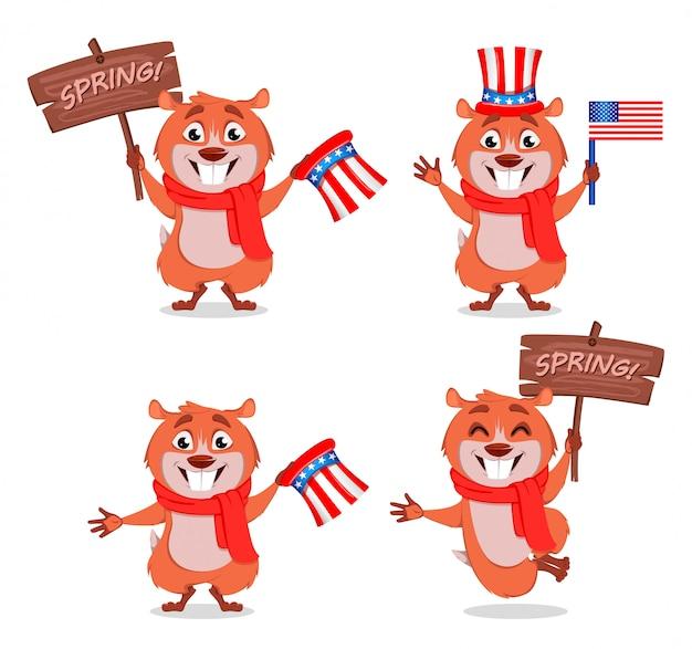 Carte de voeux happy groundhog day