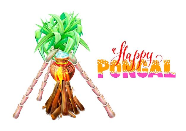 Carte de voeux happy pongal