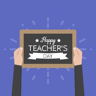 Carte de voeux happy teachers day. illustration vectorielle.