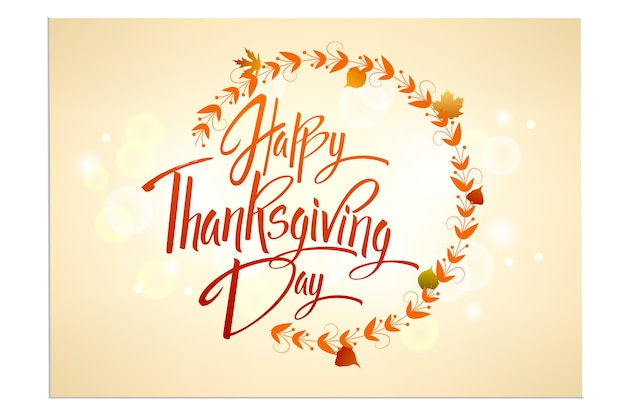 Carte de voeux happy thanskgiving day