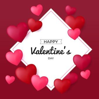 Carte de voeux happy valentine day