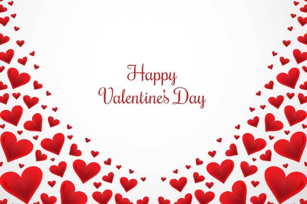 Carte de voeux happy valentines day avec coeurs