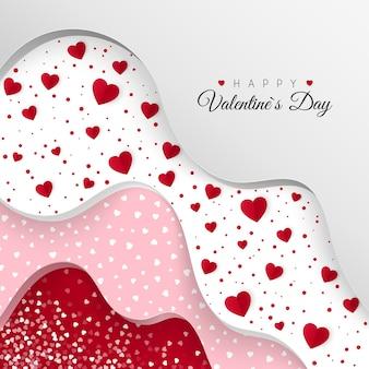 Carte de voeux happy valentines day
