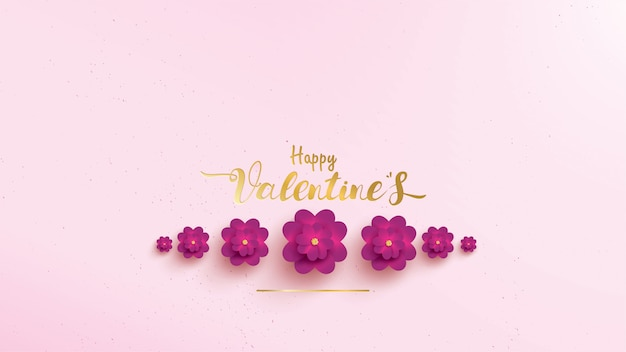 Carte de voeux happy valentines day