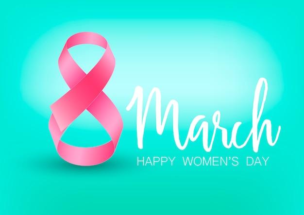 Carte de voeux happy women's day.