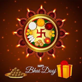 Carte de voeux heureuse de célébration de bhai dooj