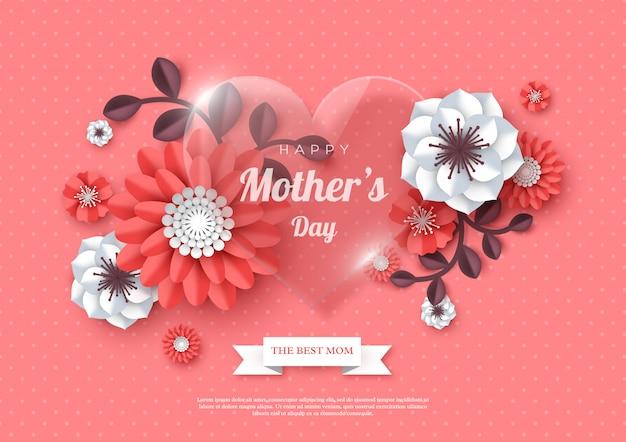 Carte de voeux heureuse fête des mères.