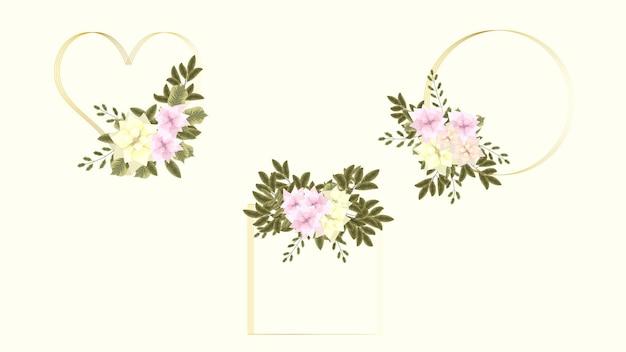 Carte de voeux d'invitation de fleurs botaniques pour un événement de décoration de mariage