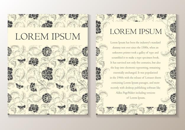 Carte de voeux ou d'invitation florale. modèle