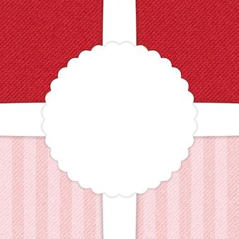 Carte de voeux jeans rouge et rose clair. illustration vectorielle