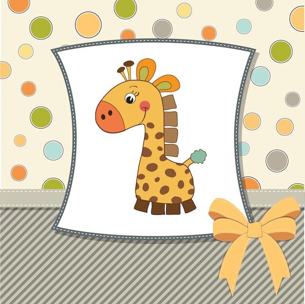Carte de voeux avec jouet girafe