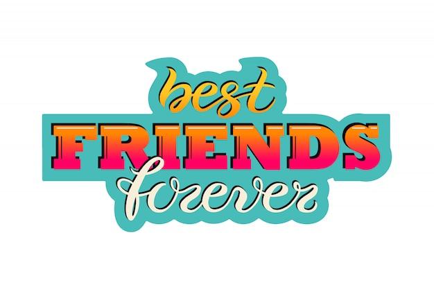 Carte de voeux de la journée de l'amitié