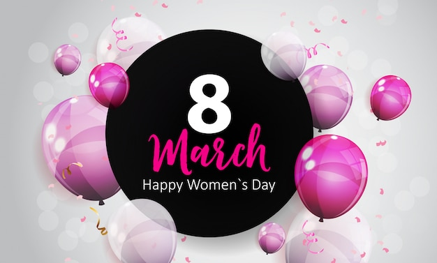 Carte de voeux de la journée de la femme 8 mars