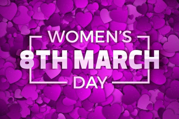 Carte de voeux de la journée de la femme du 8 mars