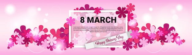 Carte de voeux de la journée internationale des femmes du 8 mars