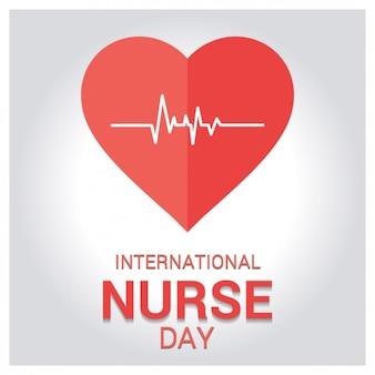Carte de voeux de la journée internationale de l'infirmière